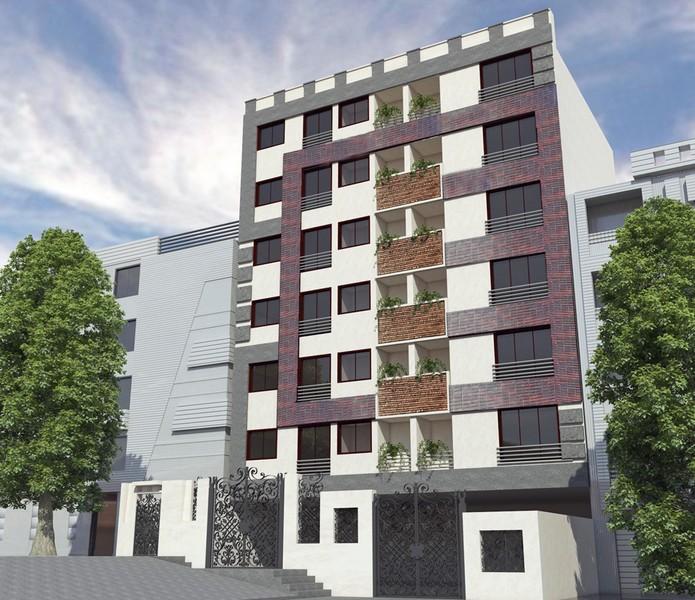 طراحی نمای مدرن عباس آباد